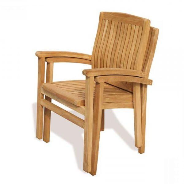 Teak wood stacking chair PJ Malaysia