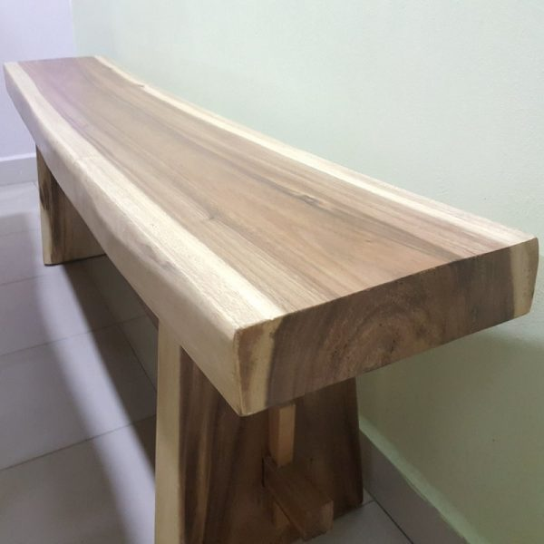 dining bench made of rain tree for indoor
