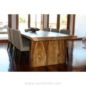 Solid Suar wood table, suar dining Table, Monkey wood furniture