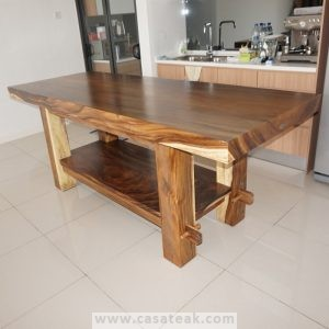 modern dining table malaysia, solid suar table