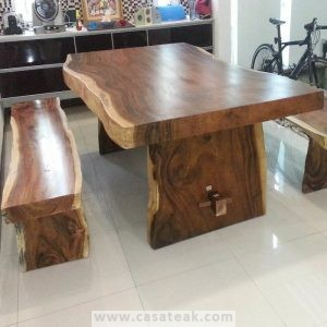 Suar Wood Table, raintree dining table PJ, Solid wood table,