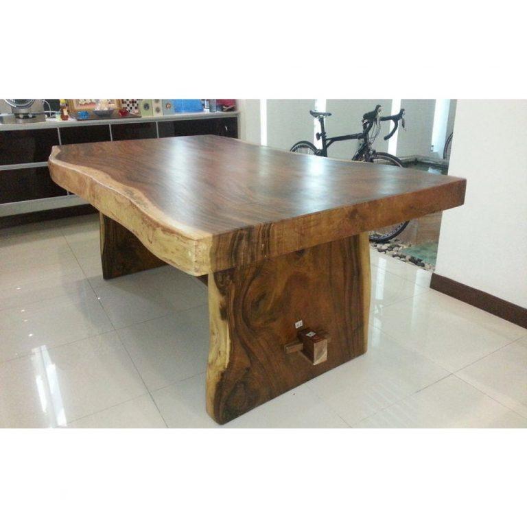 Solid raintree dining table, Monkey wood table Malaysia
