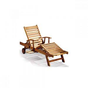 wooden sun lounger at Casateak Malaysia