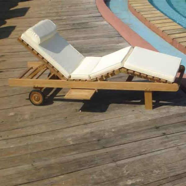 wooden lounger, outdoor beach furniture, solid teak wood lounger for pool side,