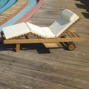 teak wood lounger, wooden lounger, lounger for pool side available in Casateak Malayisa