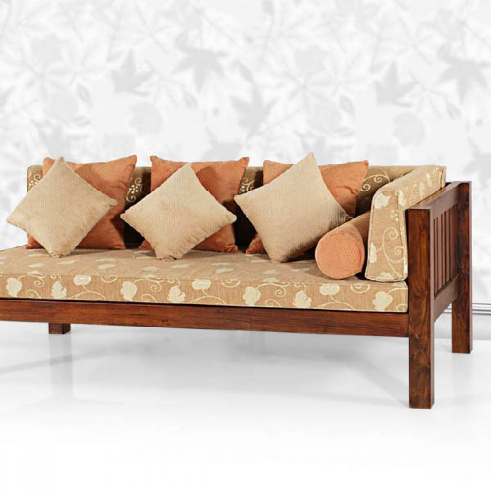 Divan daybed made of solid indonesian teakwood available for 2 seater divan