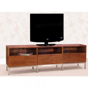 teak tv console