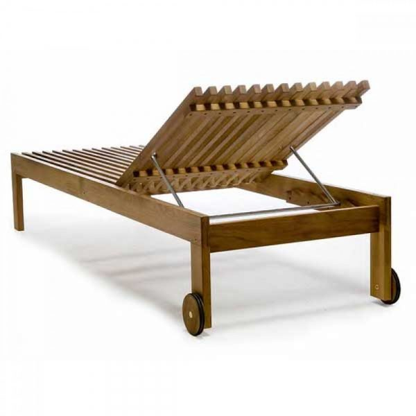 beach furniture, teak lounger, wooden lounger, outdoor pool furniture near Johor