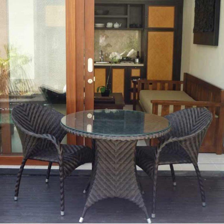 wicker terrace set, wicker outdoor terrace set