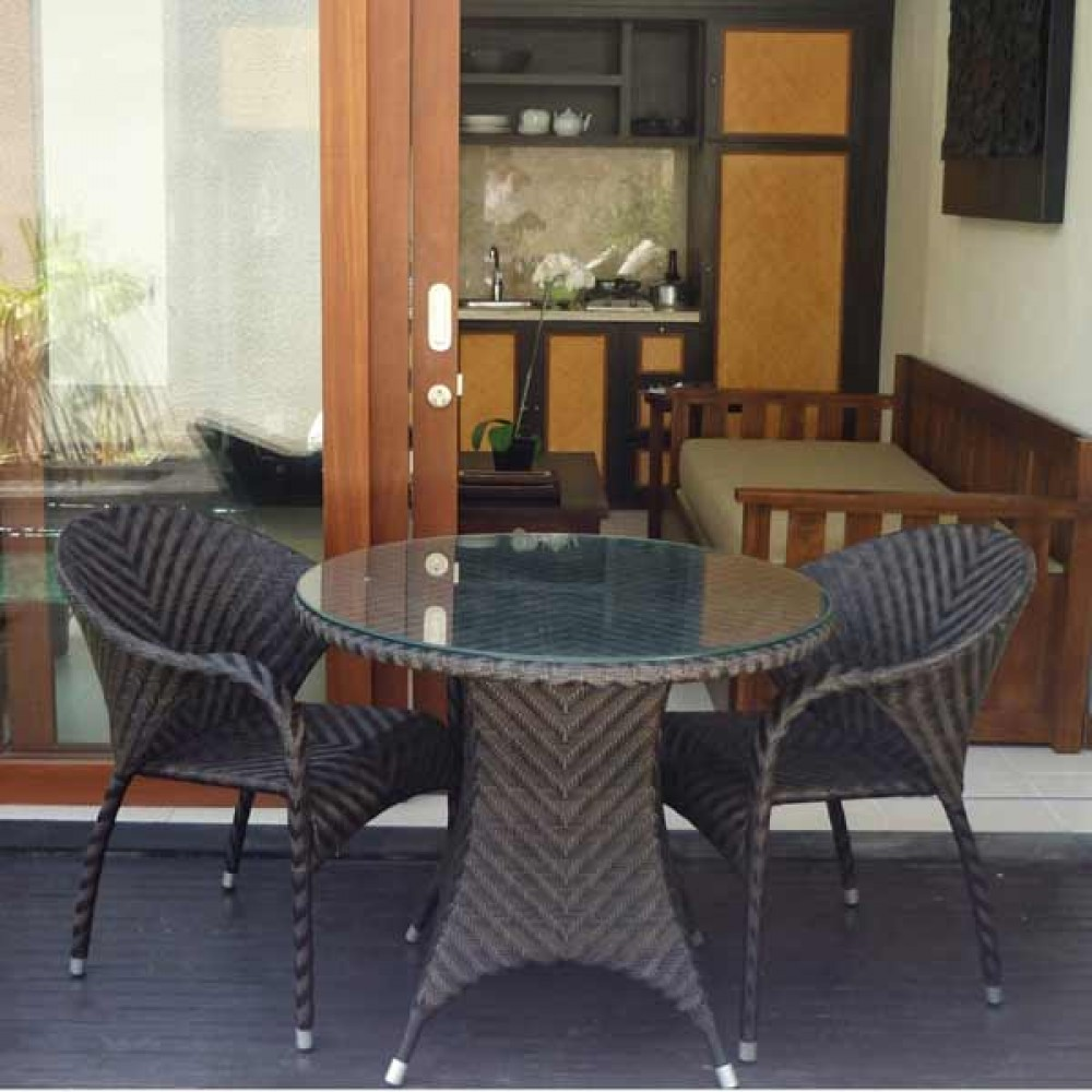 wicker terrace set, wicker outdoor terrace set