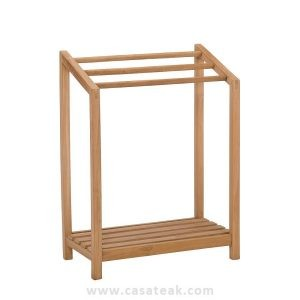 towel rack in teak wood