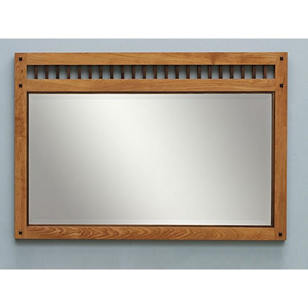 Teak wall mirror, wooden mirror