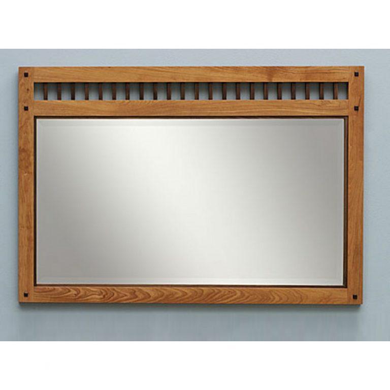 Teak wall mirror, wooden mirror