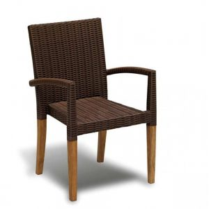 Teak stacking chair, outdoor restaurant stacking chairs KL