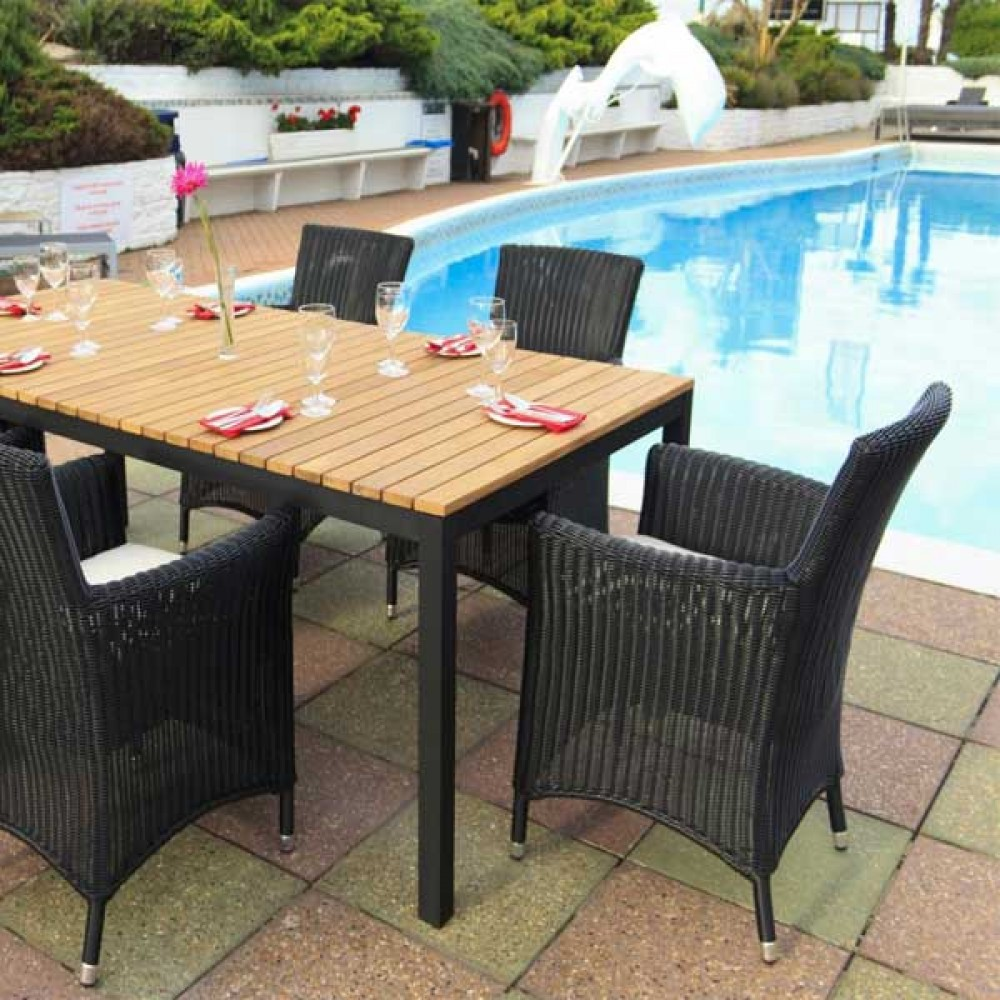 Wicker garden set, wicker outdoor table, outdoor dining set