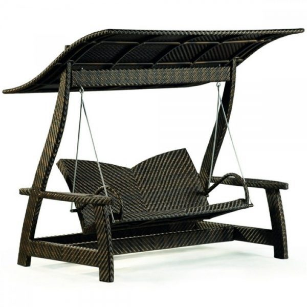 wicker swing, outdoor wicker swing, garden furniture