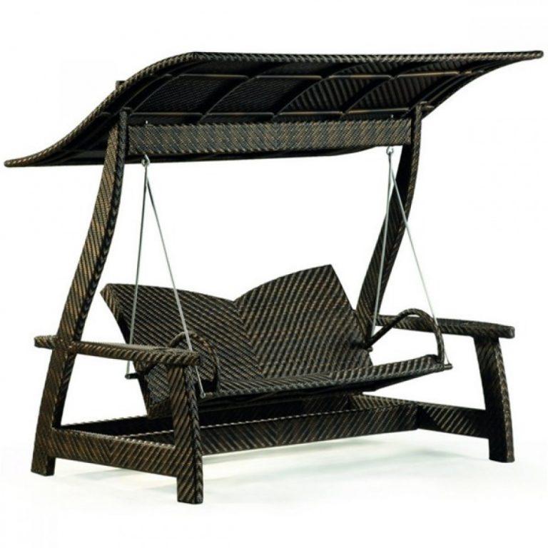 wicker swing, outdoor wicker swing, garden furniture