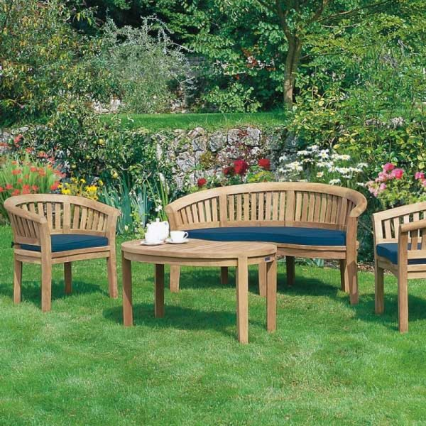 outdoor teak sofa, solid wooden sofa KL,