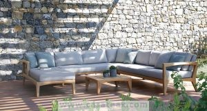 Wooden Sofa, Outdoor Sofa Set, teak wood outdoor sofa for garden in KL