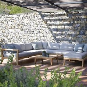 Wooden Sofa, teak wood L shape sofa for gardens