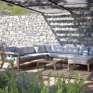 Wooden Sofa, teak wood L shape sofa for gardens
