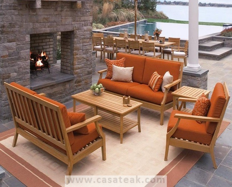 modular outdoor sofa made of Indonesian Plantation teak wood