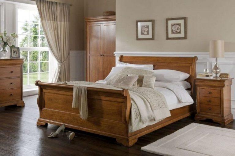 Apollo Sleigh bed Frame, teak wood Indonesian furniture