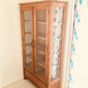 Teak wood dovel display cabinet