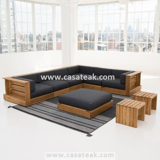 patio wooden sofa teak wood outdoor sofa set jb outdoor