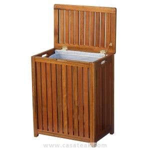 teak laundry basket, Teak hamper