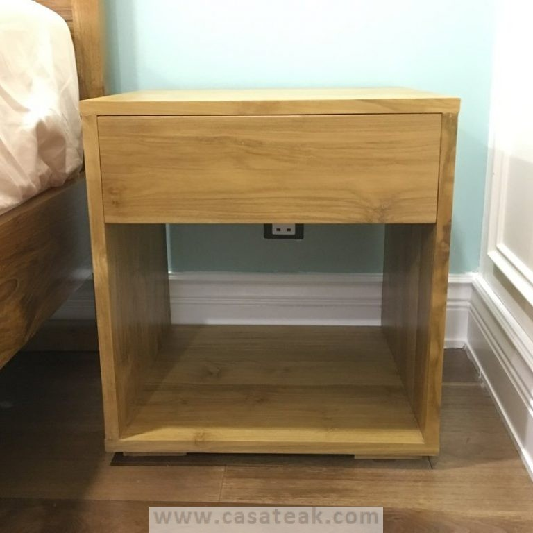 Teak nightstand, night stands, bedside tables