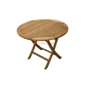 Round teak table