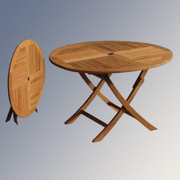 Round teak table in Malaysia