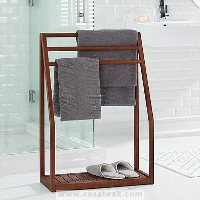 teak wood towel rack in Kl