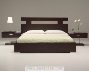 teak bed frame, Katil Kyu Jati Furniture