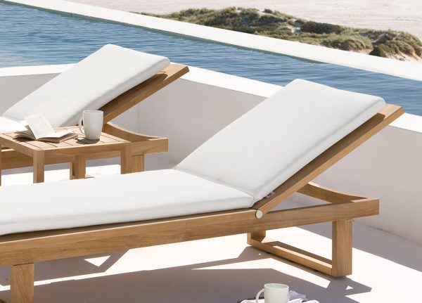 Gimini teak lounger, sun lounger, gar furniture