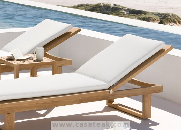 Gimini teak lounger, sun lounger, gar furniture