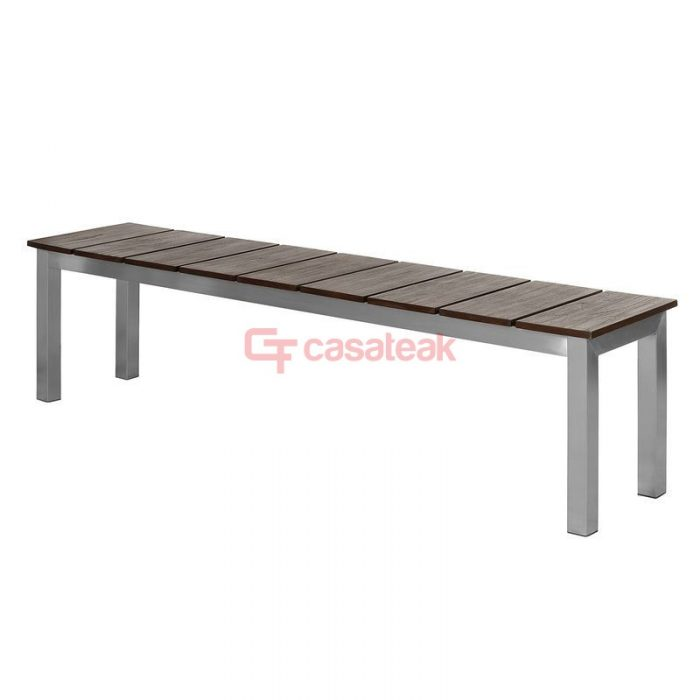 Mesa Outdoor Steel Bench , Garden Backless Bench