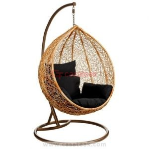 Wicker Garden Swing , Wicker swing single seater
