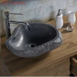 Limestone oval basin