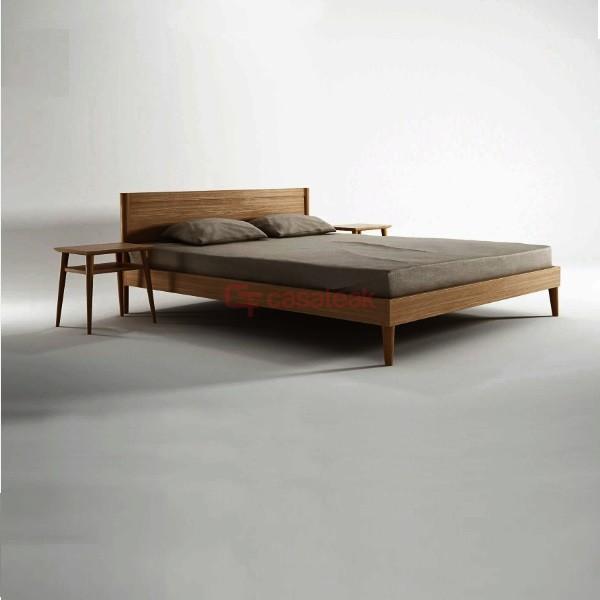 teak Minimalist bed frame