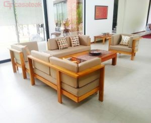 Teak wood Sofa Set ting