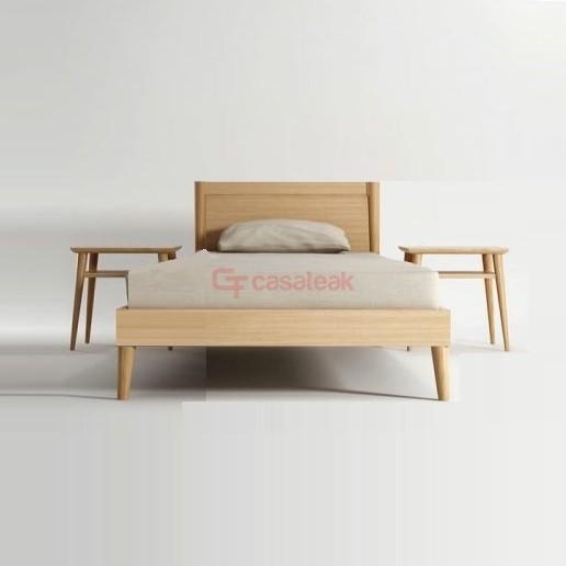 Teak Bed Frame Minimalist Single
