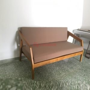 Teak Wood Sofa Double Seater