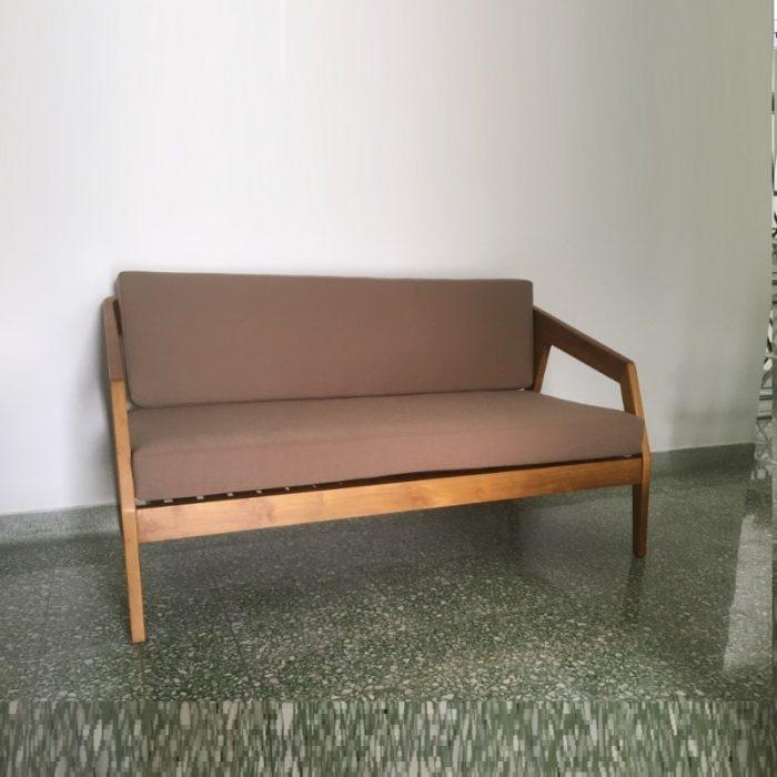 Teak Wood Sofa Double Seater