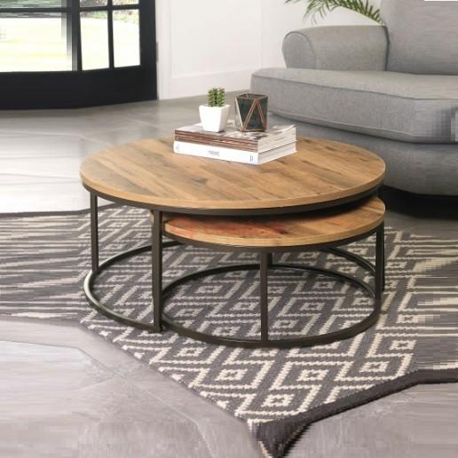 Teak Nesting Coffee Table Set