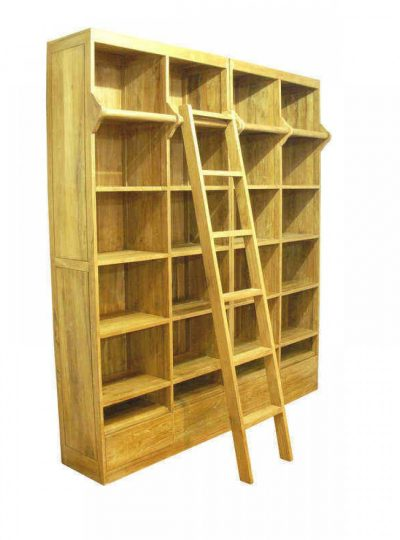 Ladder Book Case , teak wood book shelf